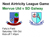 Mervue Utd v SD Galway, Saturday