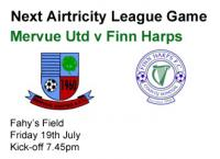 Next Game v Finn Harps
