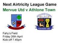 v Athlone Town 26.04.13