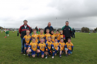 nockmore U8A team with managers Freddie Jordan, Sean Canning and Ray Kelly who competed in the U8A Sean Wynne Cup