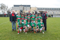Tom McDonnell Cup - Winners.   Ballina Stephenites U10A team with mangers Vinny O'Hora, Ciaran Allen and Tom Tighe