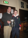 Aiden Sweeney & Brian Mattimoe with County Minor Cup