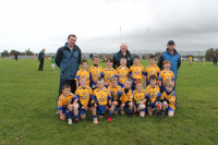 Ballina Stephenites Shield – Winners.  Knockmore U8B team with mangers Colin Dowd, Seamus Melvin and John Finnerty
