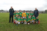 Ardmoy U8B team with mangers James Carolan and John Barrett who competed in the U8B Ballina Stephenites Shield
