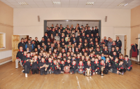 Pictured are the underage teams from U8 to Minor