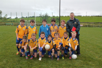 Knockmore U10A team with manager Eamonn Keane who competed in the U10A Tom McDonnell Cup