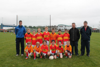 Tom McDonnell - Cup Runners up.  Castlebar Mitchells U10A team with managers Michael Rocke, James Mylett and Cormac Tuohy
