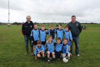 Bonniconlon U8A team with managers John Fox and Michael Durcan who competed in the U8A Sean Wynne Cup
