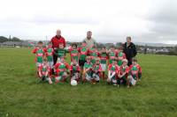 "Stephenites Shield €"" Runners up.  Ballina Stephenites U8B team with managers Conor Rowe, Richard Cloonan and Paul Cronin"