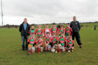 Sean Wynne Cup – Winners.  Ballina Stephenites U8A team with managers Pat Hackett and Tony Neary