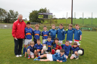 Claremorris U10B team with their manager John P. Keane who competed in the U10B O€™Hora Memorial Cup at Ballina Stephenites
