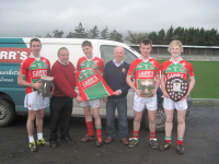 Anthony Carr, carrs Supermarkets, Lord Edward Street presenting jerseys to the Minor Team