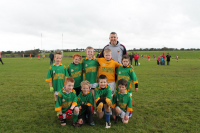 Sean Wynne Cup – Runners Up.  Ardmoy U8A team with manager Alan Gaughan runners up in the U8A Sean Wynne Cup