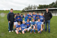 Claremorris U10A team with managers Anthony Joyce and Thomas Keane who competed in the U10A Tom McDonnell Cup