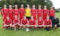 The Drumoghill F.C. side who played Kildrum Tigers at the brilliantly redeveloped