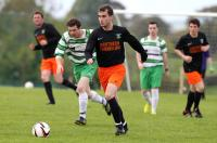 Michael Mc Hugh in action for Arranmore United against Castlefin Celtic Reserves