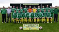 Gweedore United pictured in their new playing kit sponsored by Teach Jack
