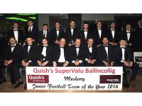 Muskerry Junior Football Team of the Year