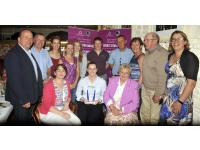 Aoife with the Officers, selectors, members and players of Cloughduv Camogie Club