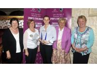 Aoife with Rose Malone Muskerry Camogie,Mary McSweeney Cork Camogie, Kathleen Healy Cloughduv Pres, Marian McCarthy Cork Camogie