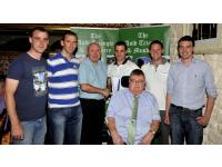 John O Callaghan with Inniscarra Players and JJ Long