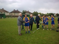 Ollie Sheehy receiving the 2008 McCullough Cup