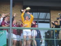 Paddy Gannon lifts the county cup