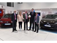 Paudie Donegan of Lehane Motors Airport Road, sponsors of our Hurling and Football Leagues, with members of the Board.