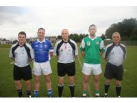 Captain and Officials for Junior C Football Final