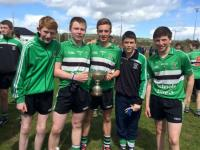 Barrs Lads with the Cork Colleges u16 A football trophy