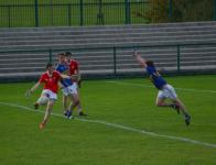 Conor Murphy attempts a block, County MAFC Final 2016