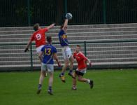 Kieran Twomey fields a high ball, Kilshannig vs O'Donovan Rossa, County MAFC Final 2016