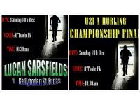 U21H Championship Final Sun 10:30am O'Toole Pk