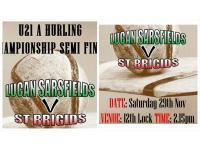 U21H Hurlers in Championship Semi Lock 215pm Sat