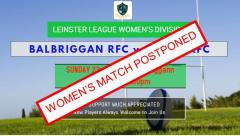 Women's Match Postponed