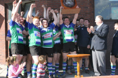 Gorey RFC Towns Plate Winners 2014 Celebrate