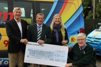 Naas RFC Raffle raised 1,100 euro for the Kildare Suicide & Bereavement Counselling Group
