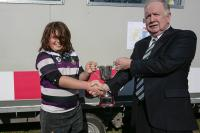 Joe presents Cup to Terenrue RFC