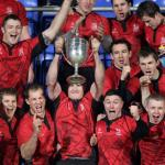 Captain Richie Leyden Hoists the 2011 Leinster Cup