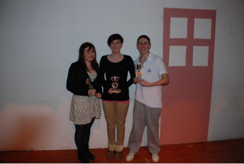 Aaron O'Driscoll, Lauren Cronin and Leah Murphy in Scor 2012