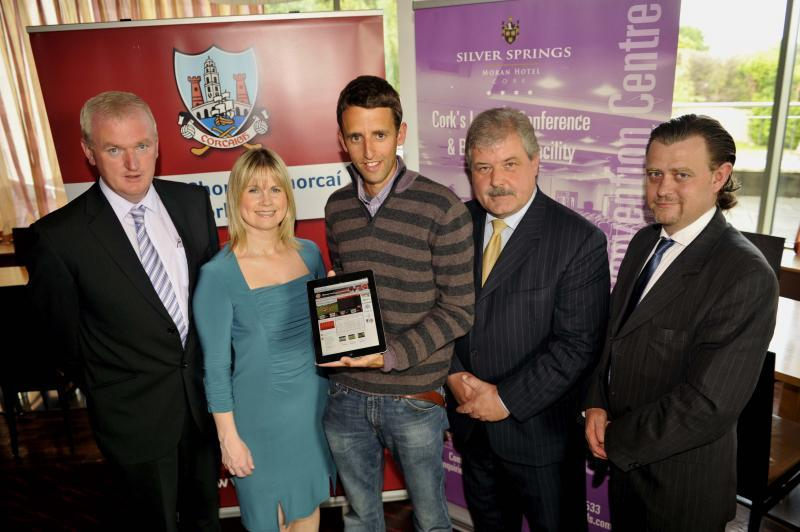 Blarney GAA receive an Apple iPad as the inaugural winners of the Cork GAA Communications Award
