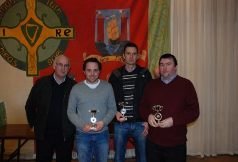 Stephen O'Brien, Denis Donovan and Tim Duggan, 2nd place in the Scór Quiz 2012