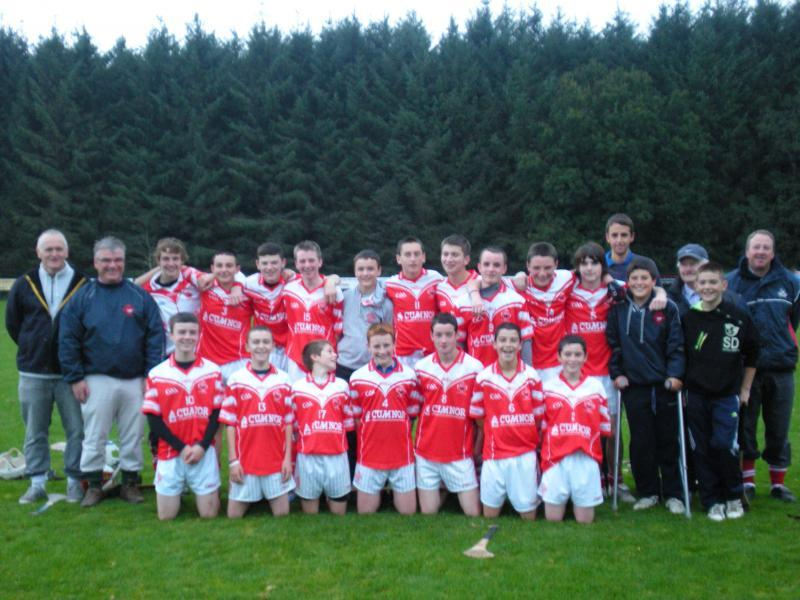 U14 Hurling Team after their victory over Sarsfields in the Premier 1 League Semi-Final 20th October 2012