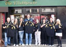 Brendan presents polo shirts to Ladies Junior team for county final 2011