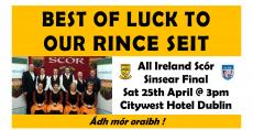 Set dancers in All Ireland this Saturday