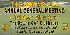AGM rescheduled for Sat 15th Dec