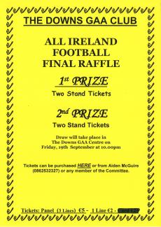 Draw for All Ireland football tickets