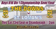 Boys U16 Semi Final this Saturday