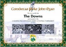 John Egan Certificate 2014