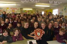 Feile winners visits Curraghmore School